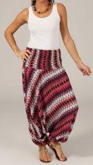 Sarouel d'été pour Femme Ethnique et Coloré Ivan Rose et Blanc 276800