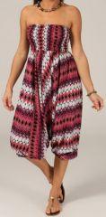 Sarouel d'été pour Femme Ethnique et Coloré Ivan Rose et Blanc 276801