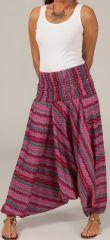 Sarouel d'été pour Femme Ethnique et Coloré Ivan Rose 276794