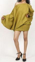 Sarouel d'été uni vert pour femme 3en1 en coton Misha 271060