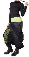 Sarouel en Velours pour femme Coloré et Ethnique Sepiks Vert 276178