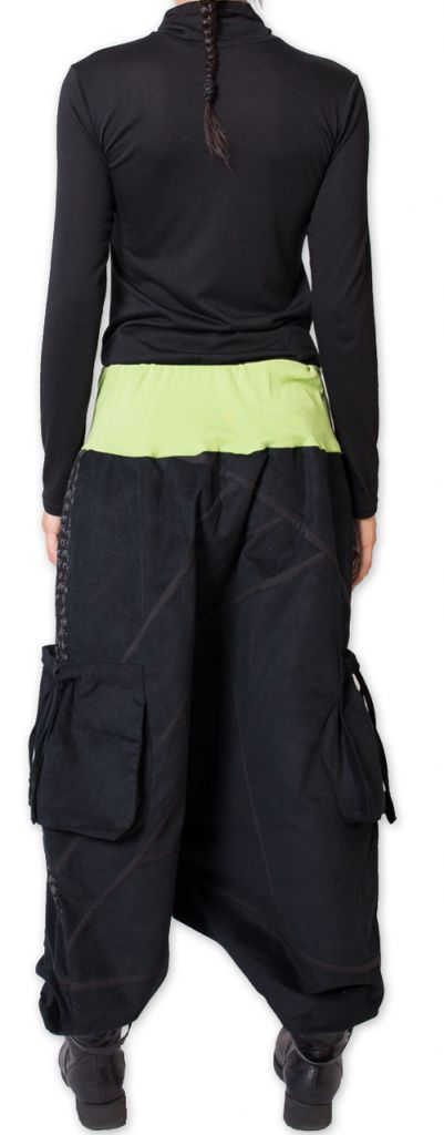 Sarouel en Velours pour femme Coloré et Ethnique Sepiks Vert 276180