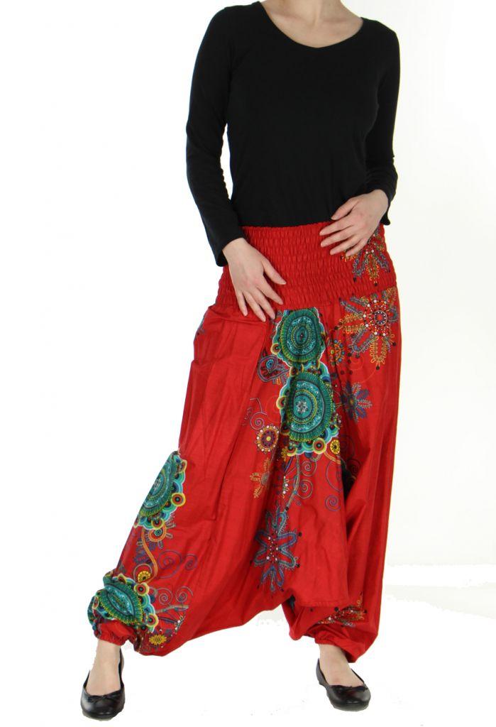 Sarouel été coloré 3en1 rouge Fabiano 268519