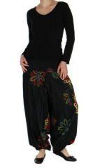 Sarouel �t� color� noir Fabiano 268513