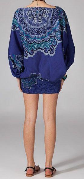Sarouel ethnique de couleur bleu Lilly