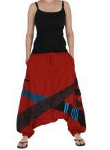 Sarouel ethnique mixte yalali rouge 262886