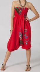 Sarouel femme 3en1 pas cher ethnique et original rouge 270334