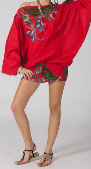 Sarouel femme 3en1 pas cher ethnique et original rouge 270335