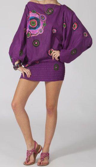 Sarouel femme 3en1 pas cher ethnique et original violet 270369
