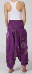 Sarouel femme 3en1 pas cher ethnique et original violet