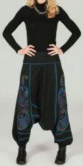 Sarouel femme Hiver ethnique et pas cher Noir Aedan 273640