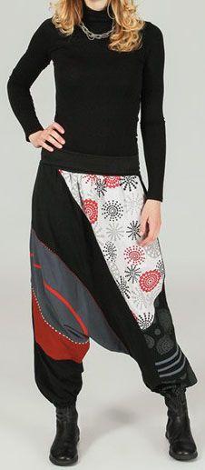 Sarouel femme Hiver ethnique et pas cher Noir Aileen 273650