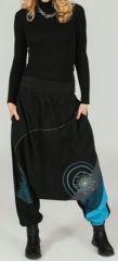 Sarouel femme Hiver ethnique et pas cher Noir Aloys 273642