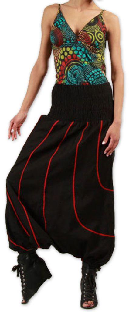 Sarouel femme Hiver Original et Pas cher Lenny Noir 274438