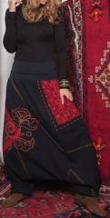 Sarouel femme Hiver original noir et rouge Bohèmia