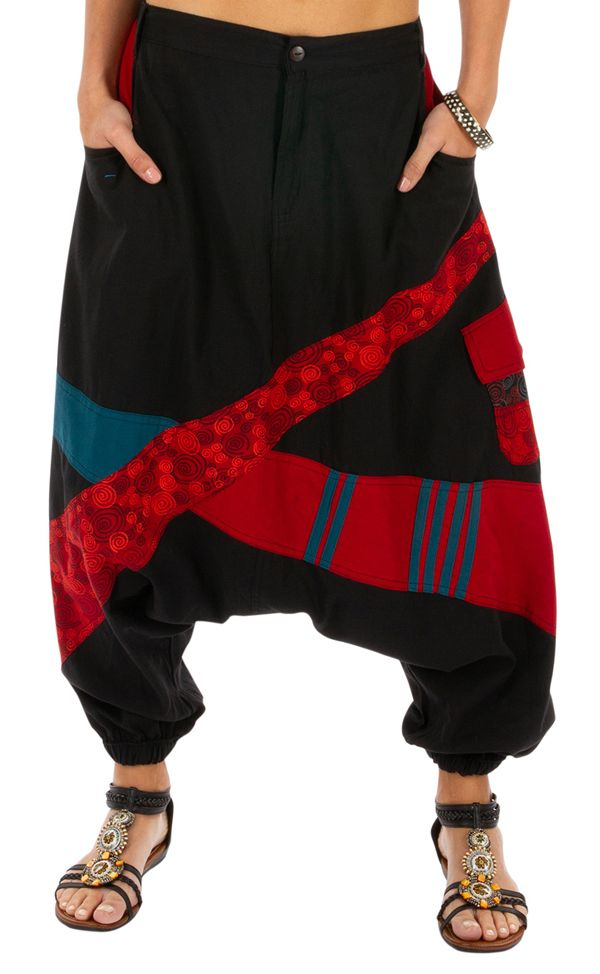 Sarouel femme sarouel homme noir original ethnique Fayoum 314076