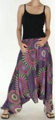 Sarouel Femme transformable 3en1 Ethnique et Coloré Joanny Noir 275436