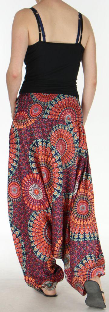 Sarouel Femme transformable 3en1 Ethnique et Coloré Joanny Orange 275441