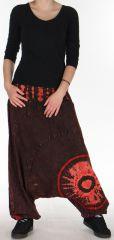 Sarouel Homme ou Femme Ethnique Tie and Dye Kaleb Rouge 275511