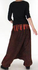 Sarouel Homme ou Femme Ethnique Tie and Dye Kaleb Rouge 275512