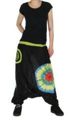 Sarouel mixte chakib noir et vert 261607