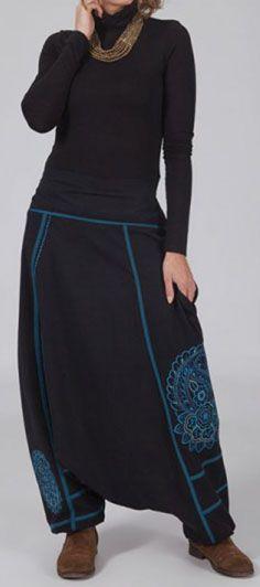 Sarouel mixte hiver original noir et bleu Anthony 274041