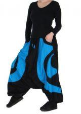 Sarouel Mixte Noir Et Bleu Clair Martins 265968