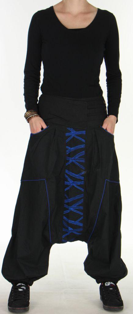 Sarouel Original pour Femme Ethnique et Stylé Sekou Noir 276105