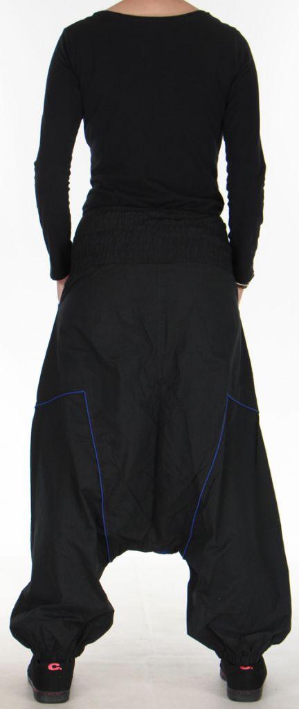 Sarouel Original pour Femme Ethnique et Stylé Sekou Noir 276106