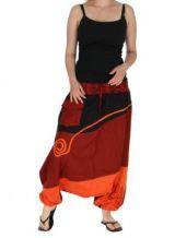 Sarouel pantalon smock� gladox rouge 262896