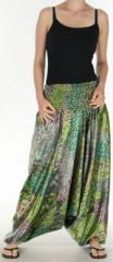 Sarouel pour Femme Chic et Ethnique aspect soie Joanis Anis 275418