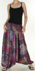 Sarouel pour Femme Chic et Ethnique aspect soie Joanis Fushia 275422