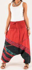Sarouel pour Femme Coloré et Ethnique Kalinda Rouge 276707