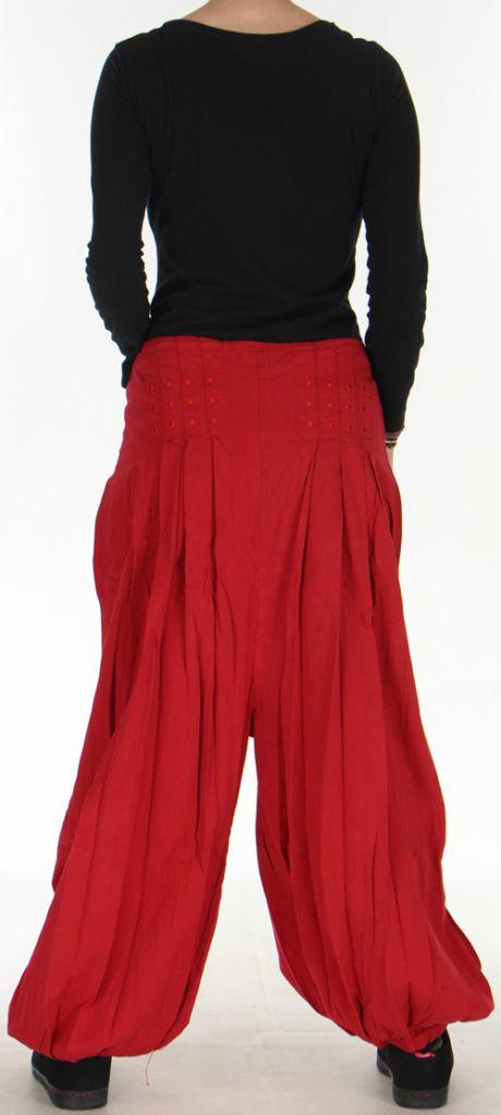 Sarouel pour Femme de mi-saison Ethnique et Pas cher Selman Rouge 276102