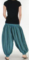 Sarouel pour Femme du Népal Ethnique Keyton Bleu 276136