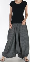 Sarouel pour Femme du N�pal Ethnique Keyton Noir 276123