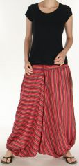 Sarouel pour Femme du N�pal Ethnique Keyton Rouge 276130