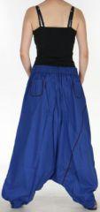 Sarouel pour Femme Ethnique et Coloré Jébril Bleu 275425
