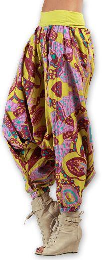 Sarouel pour Femme Ethnique et Coloré Thaly Rose 277165