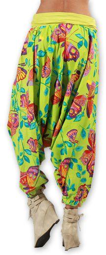 Sarouel pour Femme Ethnique et Coloré Thaly Vert 277170