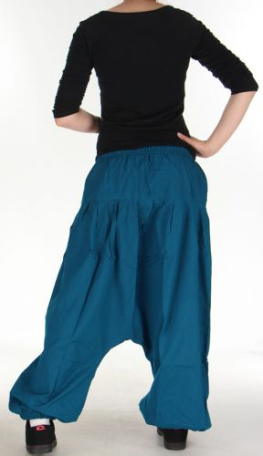 Sarouel pour Femme Ethnique et Confortable Kasaya Bleu Pétrole 275534