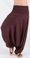Sarouel pour Femme Ethnique et Confortable Kayan Chocolat 276691