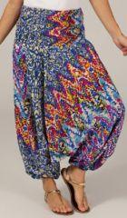 Sarouel pour Femme transformable Ethnique et Coloré Casbah Bleu 277762