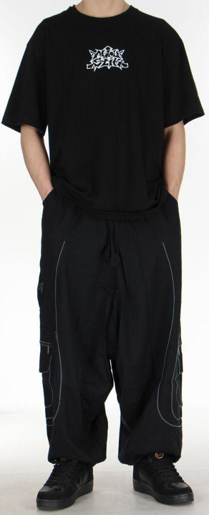 Sarouel pour homme noir et gris 9 poches Tekos 271356