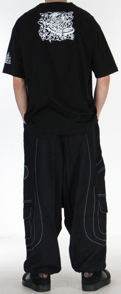 Sarouel pour homme noir et gris 9 poches Tekos 271357