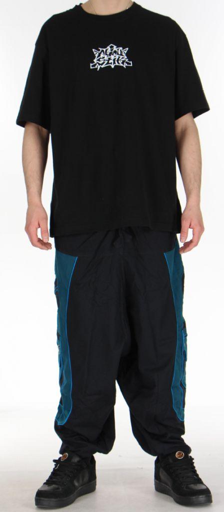 Sarouel pour homme original noir et bleu 9 poches Tekos 271363
