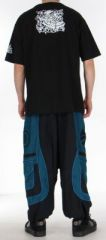 Sarouel pour homme original noir et bleu 9 poches Tekos 271364