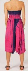 Sarouel tie-dye 3en1 fluide et léger en rayonne rose 270390