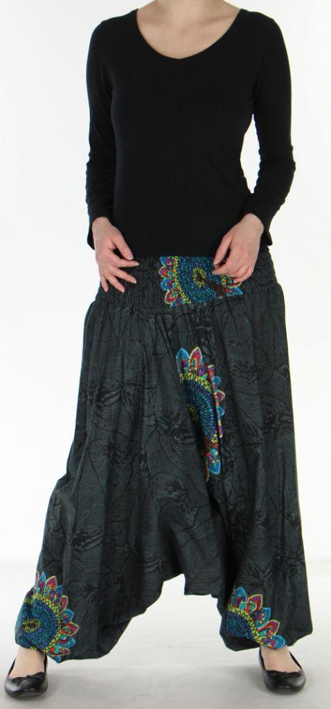 Sarouel transformable 3en1 original et pas cher  Noir Stripe 272604