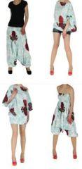 Sarouel transformable en combi ou robe luca blanc 261370